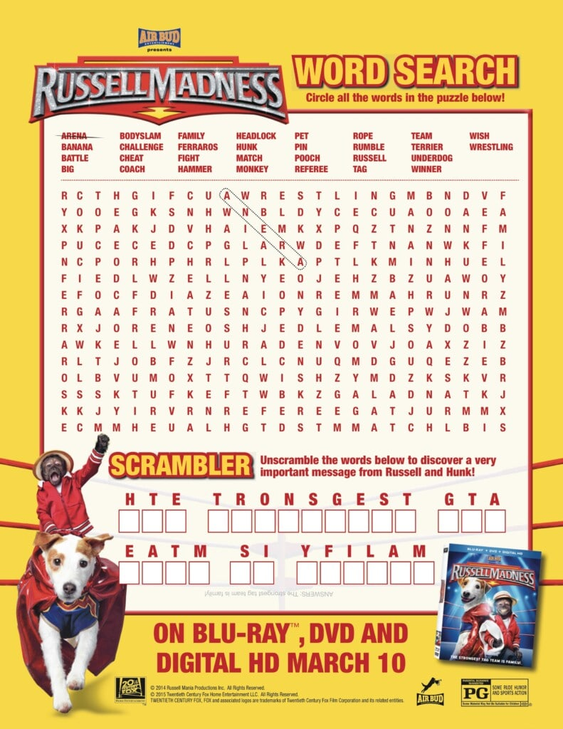 Russell Madness-word search