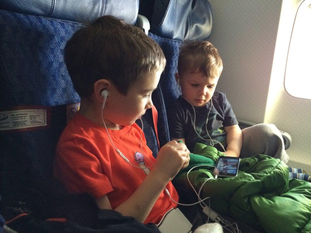 Kids traveling