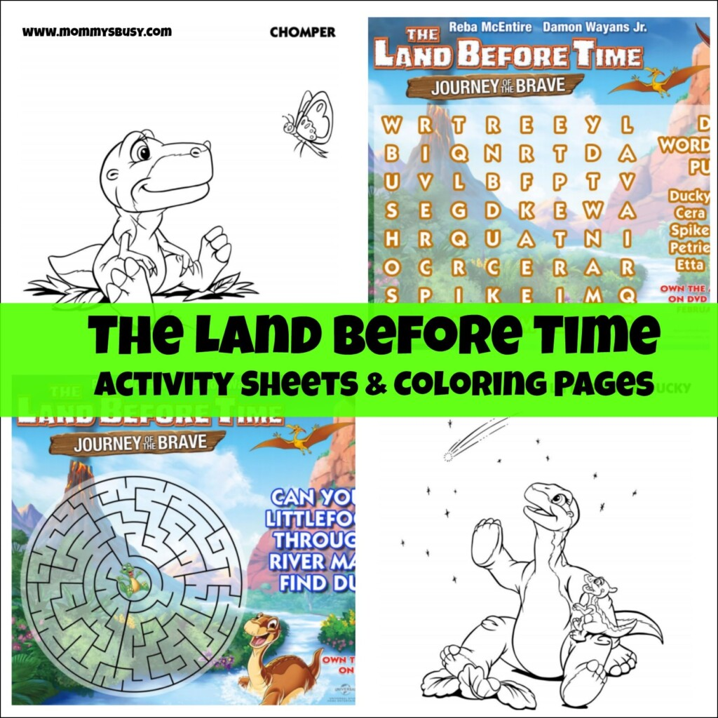 Free Land Before Time Coloring and Activity Sheets- Mommy\'s Busy, Go ...