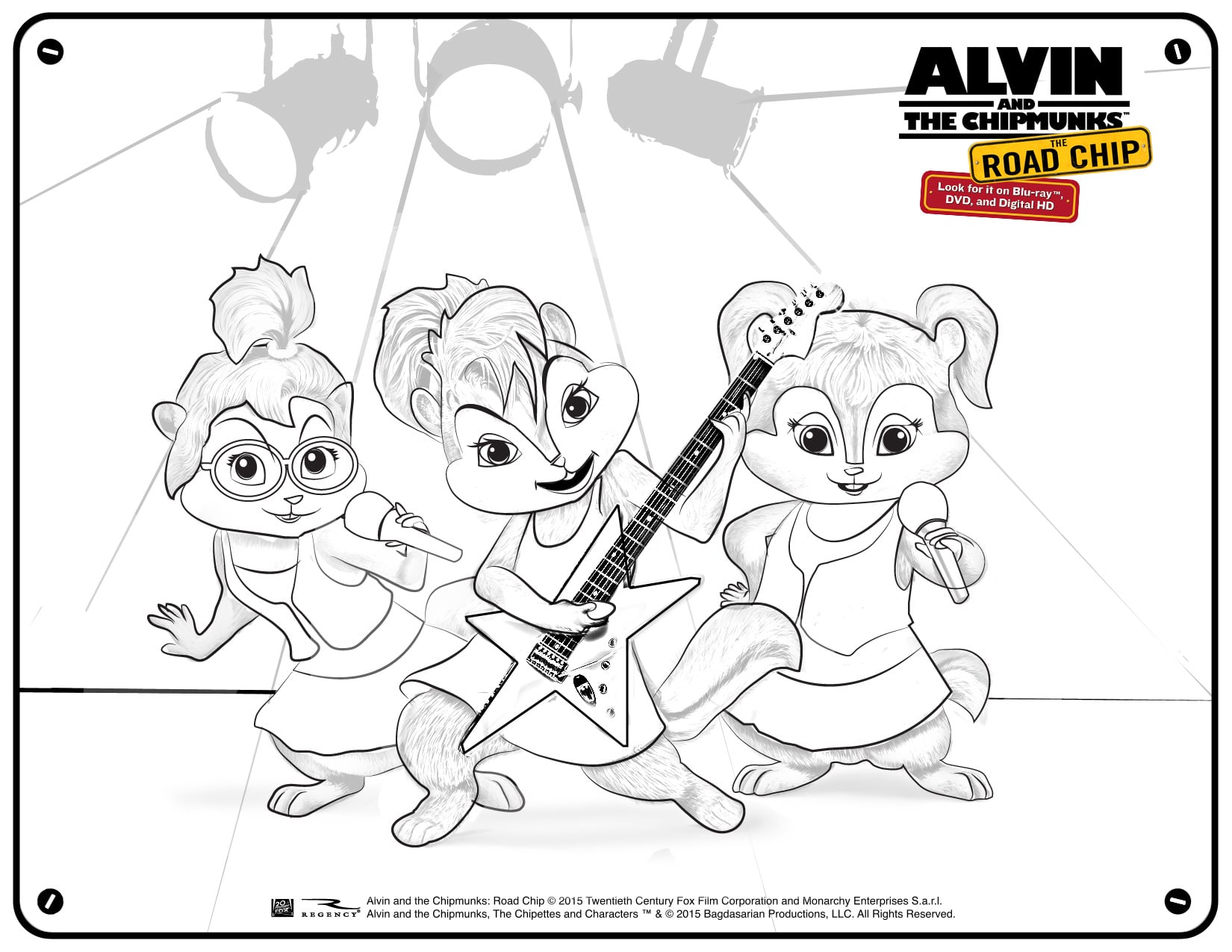 Free Alvin and The Chipmunks Coloring and Activity Pages