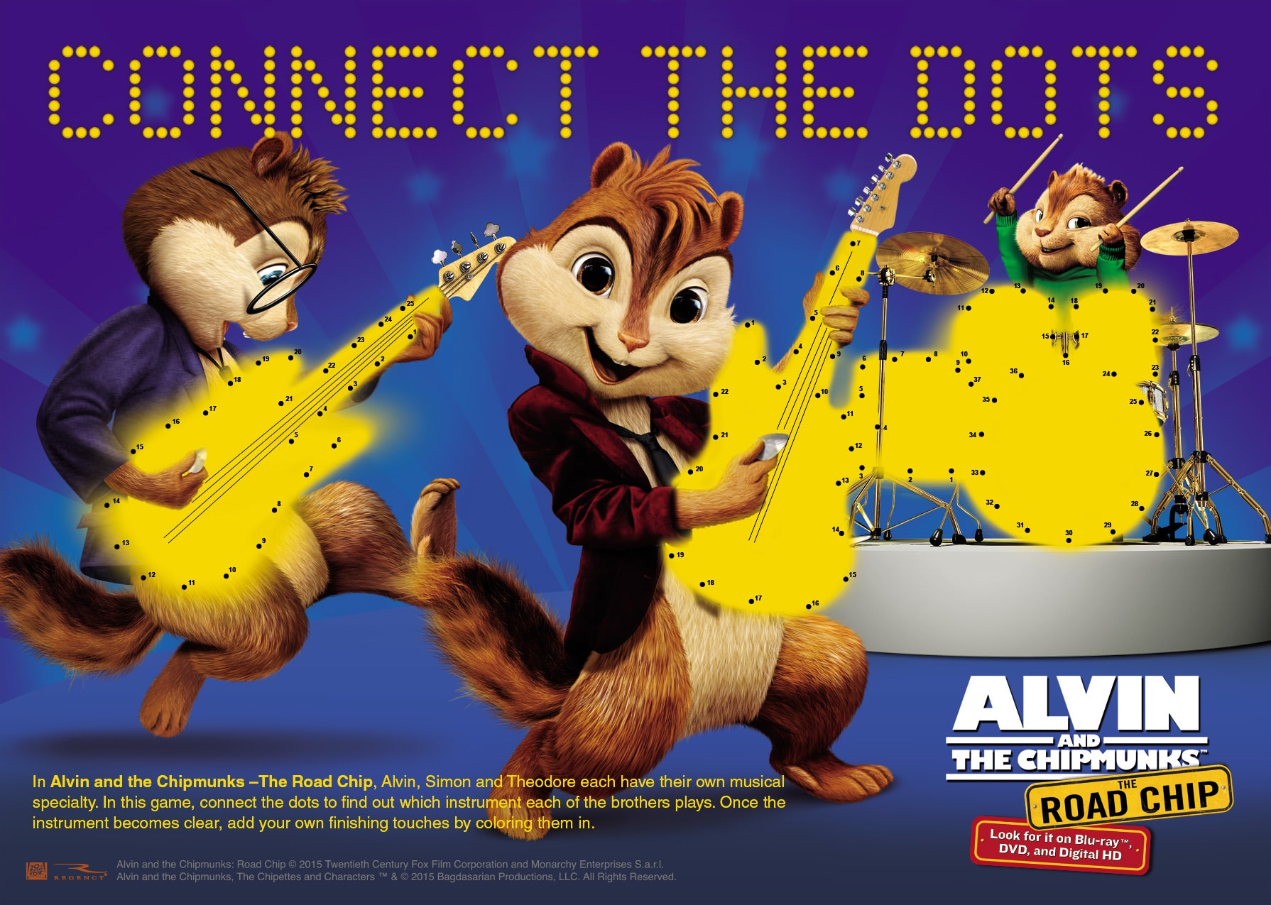 Free Alvin and The Chipmunks Coloring and Activity Pages Mommys