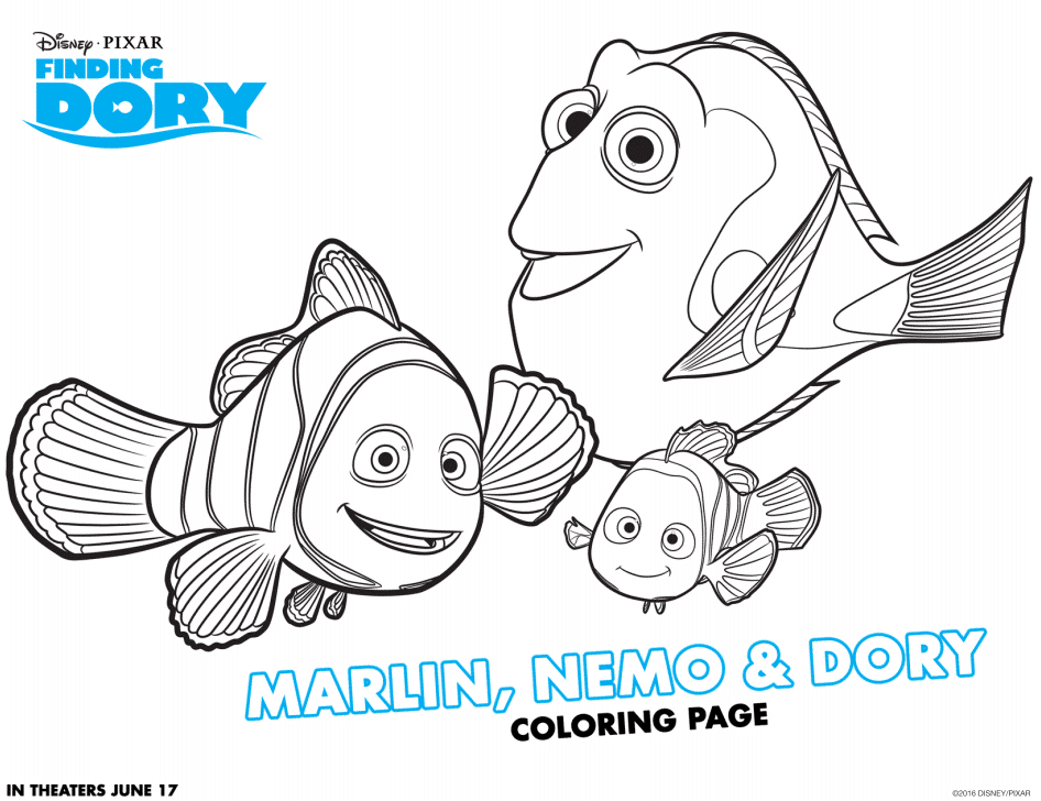 5500 Dory Coloring Pages Pdf  Images