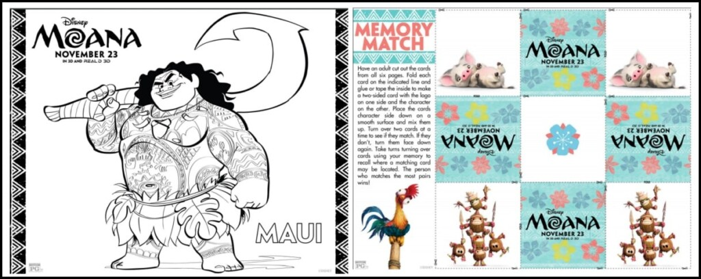 image relating to Moana Sail Printable titled Absolutely free Moana Coloring Web pages and Match Sheets - Mommys Occupied