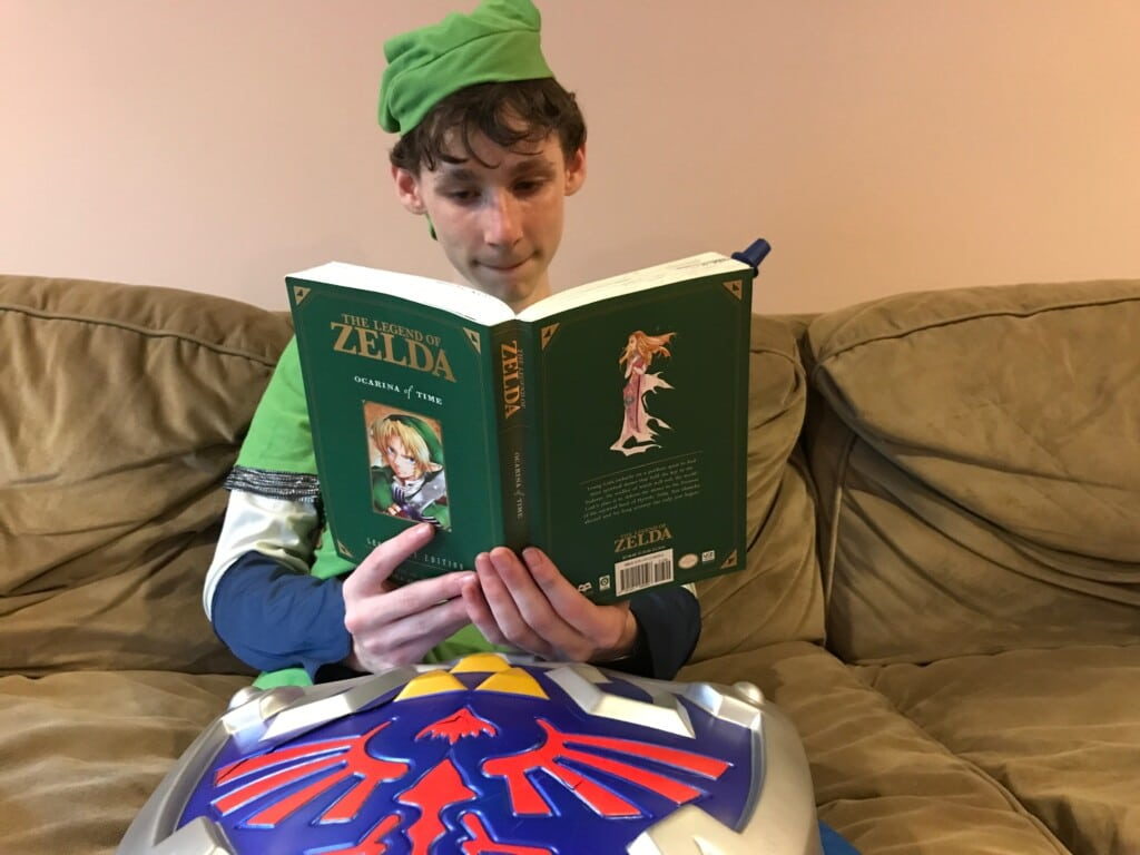 Jason's been loving Link for years. He even read the Zelda manga.