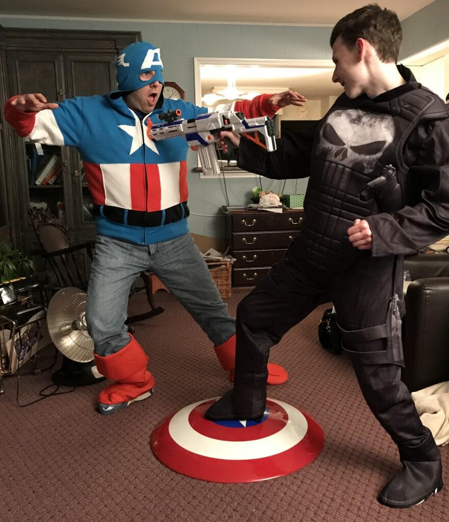 Costume Halloween Captain America Punisher