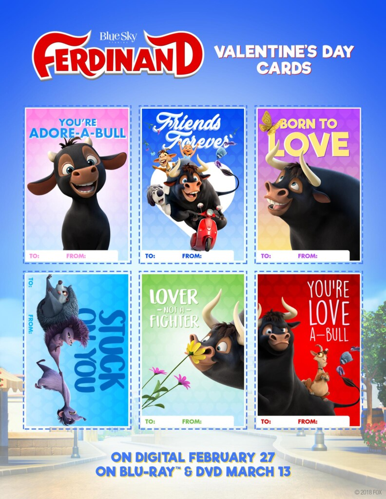 Ferdinand Free Valentine's Day Printables