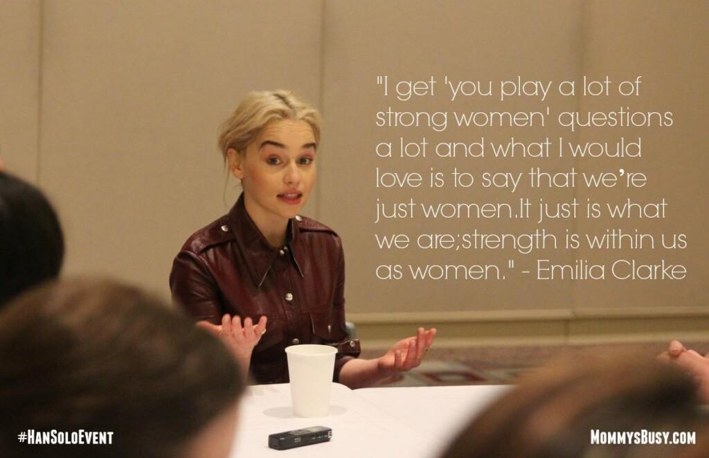 SOLO Emilia Clarke #HanSoloEvent