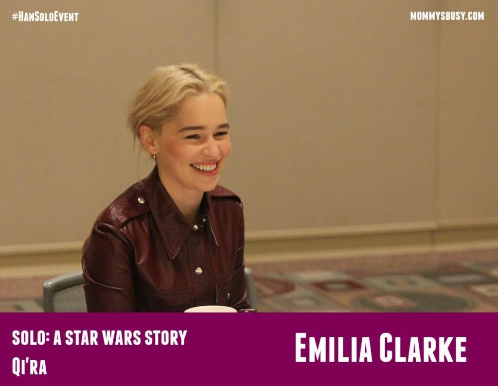 SOLO #HanSoloEvent Emilia Clarke