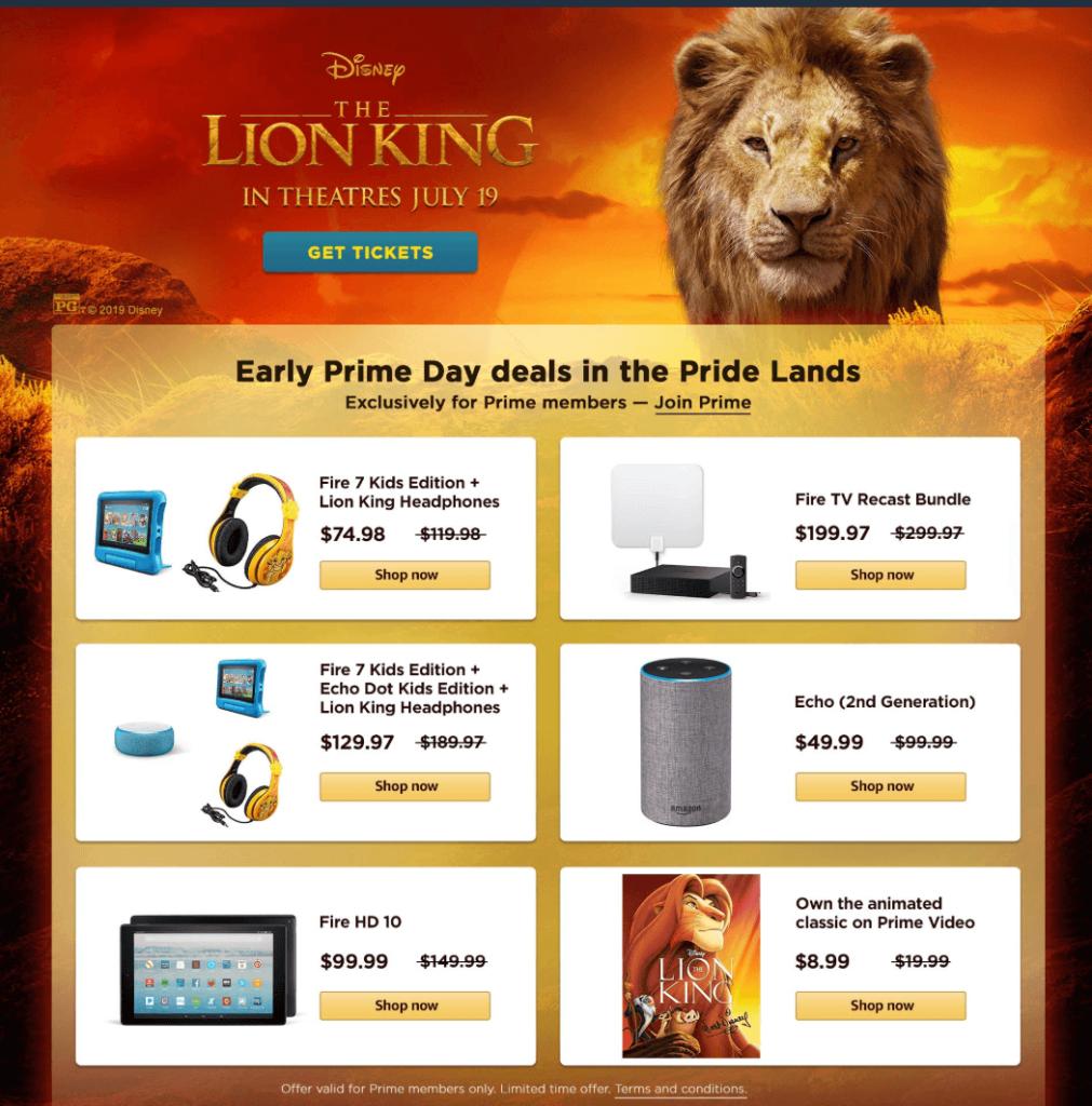 Amazon Prime Day 2019 Lion King