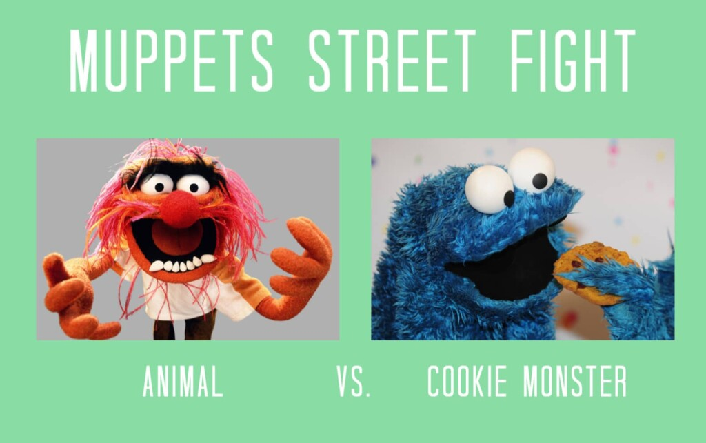 Muppets Street Fight - Animal vs. Cookie Monster