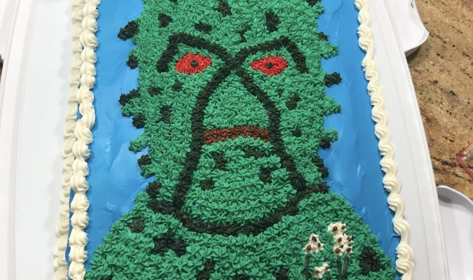 Behold the Swamp Thing Cake