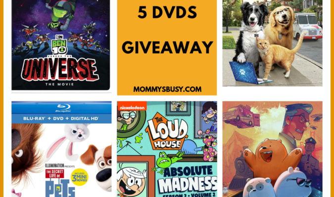 5 Kids DVDs Collection Giveaway